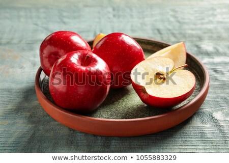 Appel plaat witte voedsel achtergrond keuken Stockfoto © Guru3D
