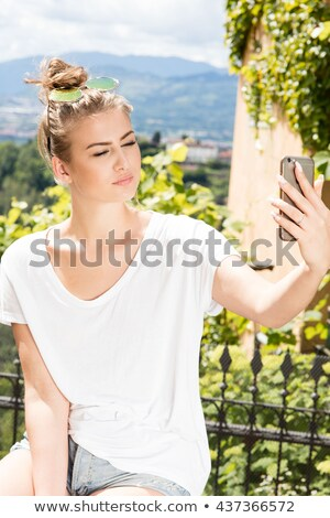 Conceptual photo of the blond Lady Spring Stock photo © konradbak