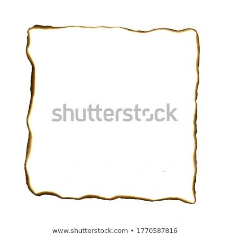 Stock photo: Burned Edges Paper Frame