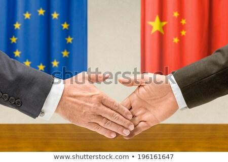 China apertar a mão negócio mãos sucesso Foto stock © Zerbor