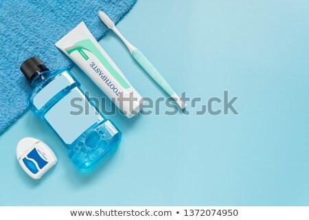 Stok fotoğraf: Diş · ipi · çift · temizlemek · pembe · taze · birlikte