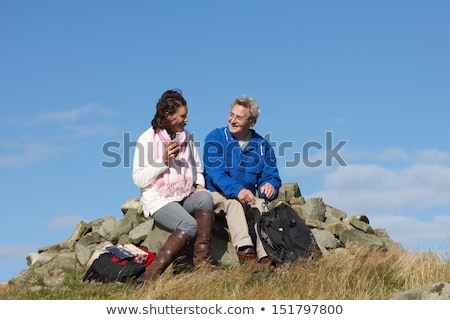 Senior Couple Stopping For Lunch On Countryside Walk Stock photo © monkey_business