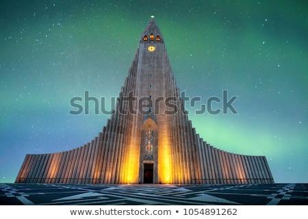 современных · здание · церкви · Исландия · трава · здании · Церкви - Сток-фото © alexeys