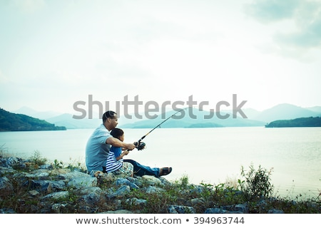 fishing break Stock photo © aspenrock