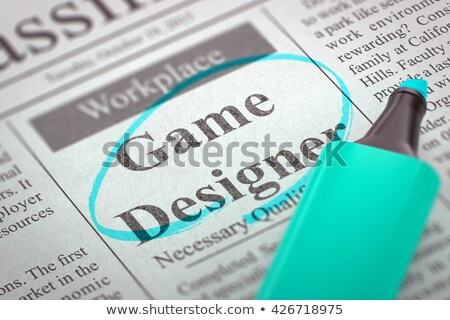 Game Designer Jobs in Newspaper. Stock photo © tashatuvango
