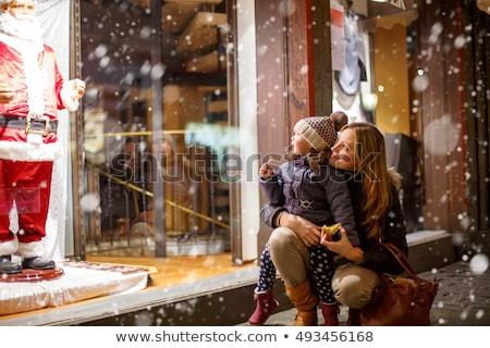 Foto stock: Compras · inverno · mulher
