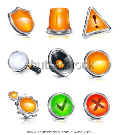 Hangszóró hangerő ikon gyűjtemény üveg gombok üzlet Stock fotó © aliaksandra