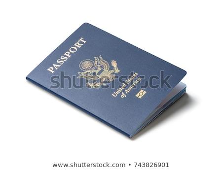 pasaporte · aislado · blanco · negocios · seguridad · viaje - foto stock © njnightsky