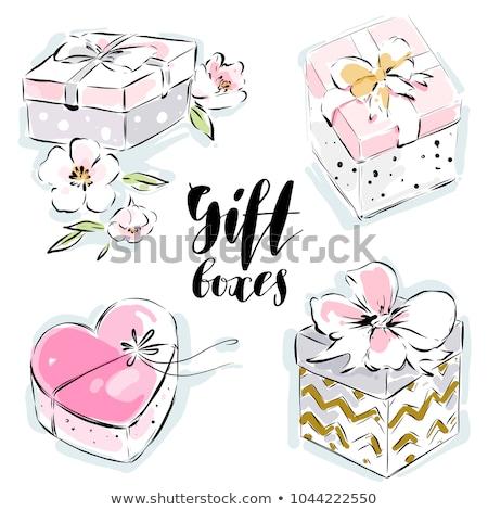 Pink watercolor heart on cardboard  Stock photo © zsooofija