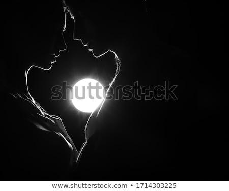 Gölge öpücük çift öpüşme Stok fotoğraf © smartin69