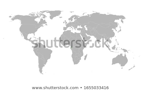 Stock photo: Poster with simple world map infographic