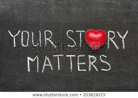 Share Your Story Blackboard Stock photo © ivelin