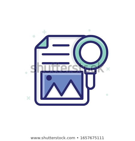 Vector Investment Briefcase with Lens Stock photo © dashadima