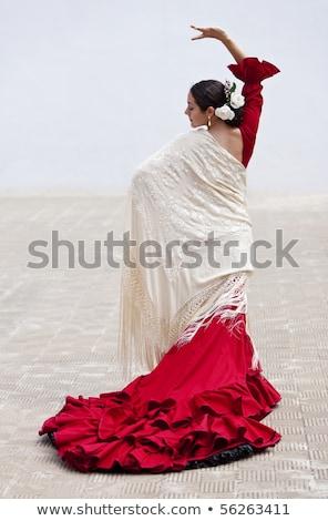 aantrekkelijk · etnische · ballerina · permanente · ballet · bar - stockfoto © godfer