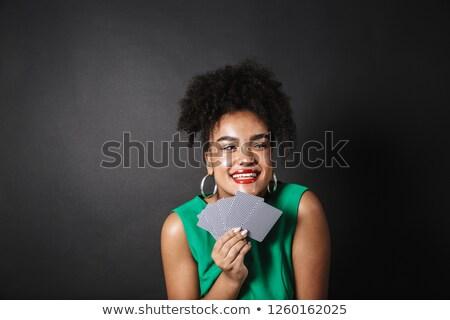 Cute young woman wearing classy dress Stock photo © konradbak