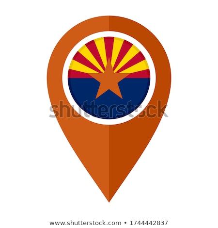 Map on flag button of USA Arizona State Stock photo © Istanbul2009