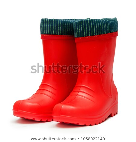 Rubber boot on white background Stock photo © ozaiachin