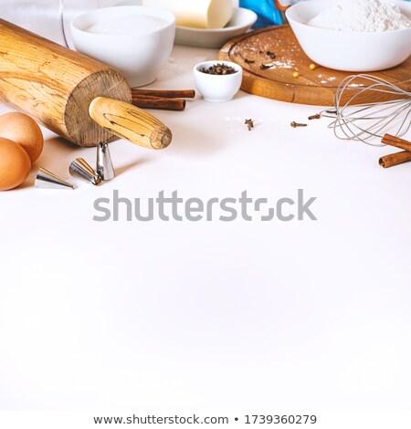 корицей · тростник · коричневого · сахара · древесины · фон - Сток-фото © es75