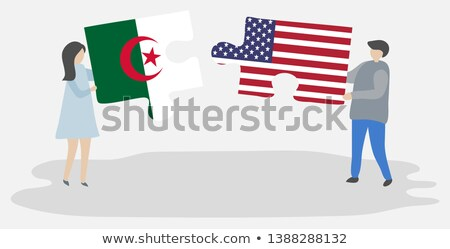 США Алжир флагами головоломки вектора изображение Сток-фото © Istanbul2009