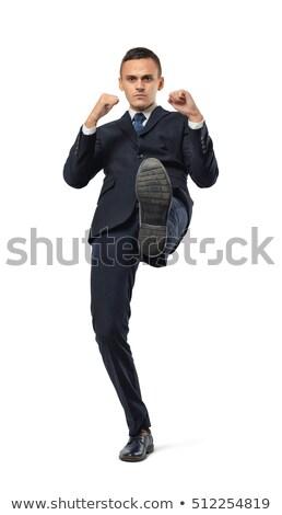 Enojado empresario blanco hombre Foto stock © AndreyPopov