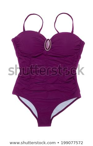 Púrpura traje de baño broche blanco agua Foto stock © RuslanOmega
