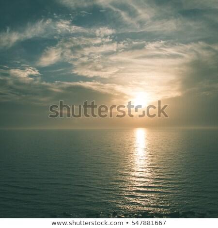Part Balti-tenger sötét felhők kép viharos Stock fotó © w20er