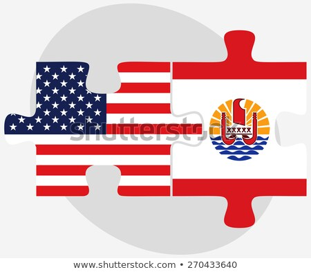 USA and French Polynesia Flags in puzzle Stock photo © Istanbul2009