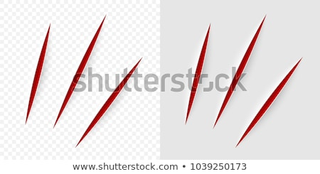 cut scissors and knife colored icons on white background stock photo © tkacchuk