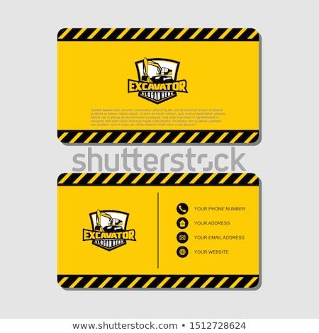 under construction on business card stock photo © stevanovicigor