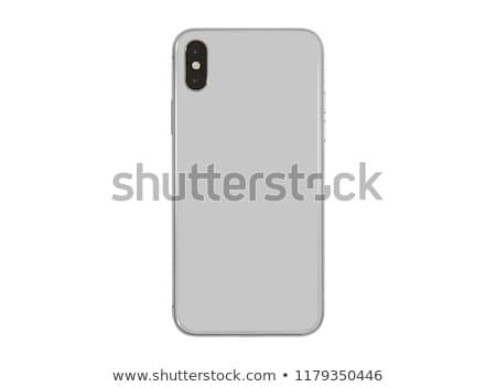 スマートフォン 背面図 クローズアップ 孤立した 白 ビジネス ストックフォト © vtls