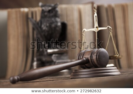 Judges wooden gavel, ambient light vivid theme Stock photo © JanPietruszka