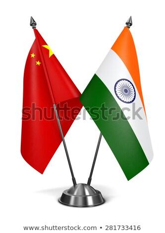 india and china   miniature flags stock photo © tashatuvango