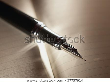 Caneta spiralis agenda branco escritório Foto stock © gavran333