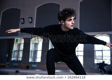 Сток-фото: молодые · мужчины · танцовщицы · спортзал · человека
