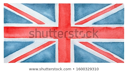 great britain flag print on grunge poster paper stock photo © stevanovicigor