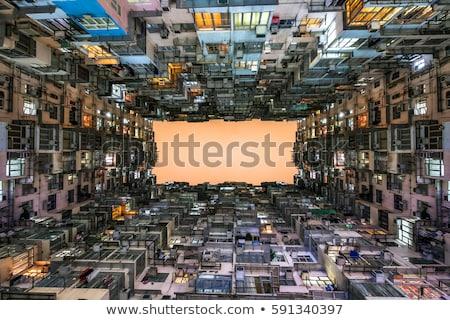 Alulról fotózva kilátás lakóövezeti épület Velence építészet Stock fotó © imagedb