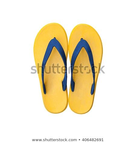 Azul praia sapatos isolado branco moda Foto stock © tetkoren