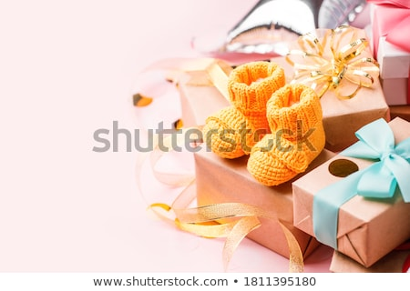 Gratulálok újszülött illusztráció baba fiú férfi Stock fotó © adrenalina