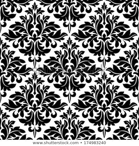 Végtelenített damaszt virágmintás geometrikus minta tapéta vektor Stock fotó © VectaRay
