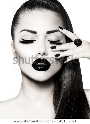 Fashion model with stylish hairstyle in pony style Stock photo © bezikus