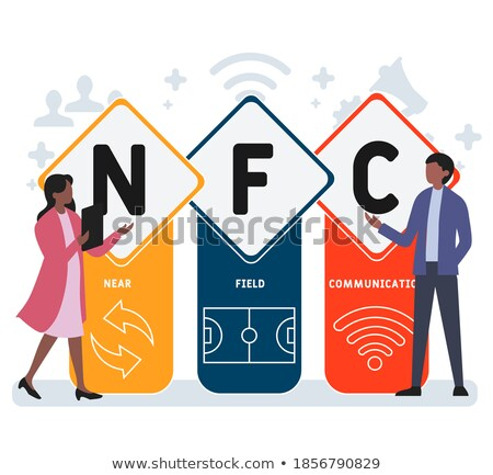NFC Sign Red Vector Icon Design Stock photo © rizwanali3d