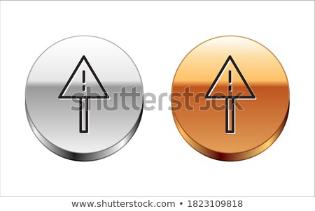 Danger Sign Golden Vector Icon Button Stock photo © rizwanali3d