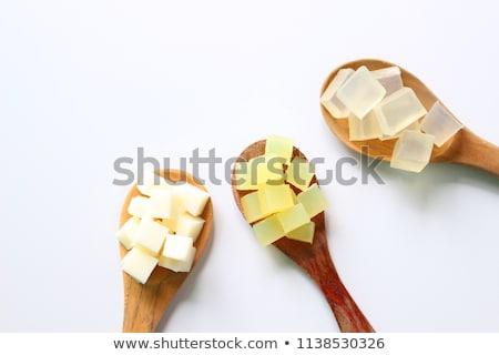 мыло · желтый · полосатый · баров · белый - Сток-фото © saharosa