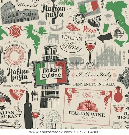 Italian cuisine symbols Stock photo © shawlinmohd