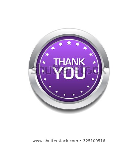 Thank You Purple Circular Vector Button Stock photo © rizwanali3d