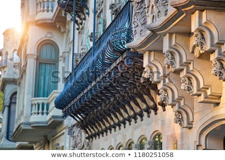 здании Барселона Испания сумерки архитектура дартс Сток-фото © vichie81