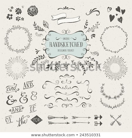 element for design corner flower vector stock photo © -talex-