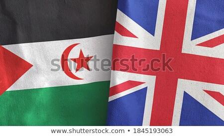 Egyesült Királyság western Szahara zászlók puzzle izolált Stock fotó © Istanbul2009