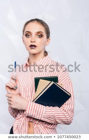 Sexy · учитель · блондинка · профессор · женщину · счастливым - Сток-фото © ClipArtMascots