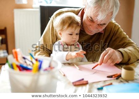 nagyszülők · baba · család · lányok · portré · mosolyog - stock fotó © Paha_L